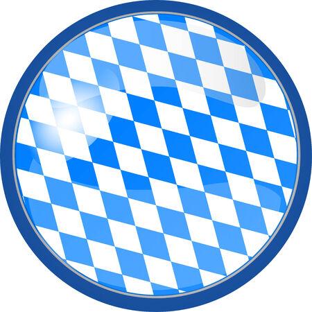 ejemplo de un botón en blanco Oktoberfest Vectores