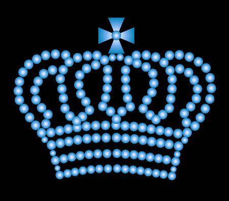 illustration of a crown on black background Stock Illustration - 5207235