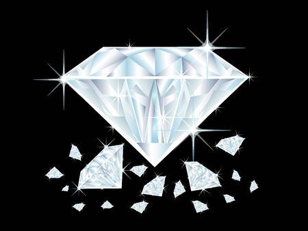 illustration of diamonds on black background illustration