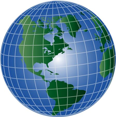 illustration of a globe north and south america Stock Illustration - 5207210