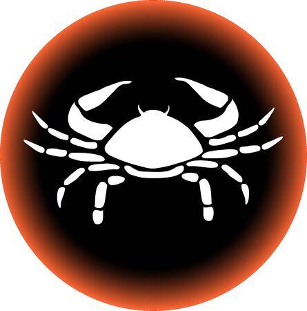 a illustration of a zodiac button cancer illustration