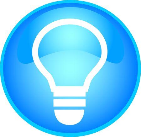 skyblue: illustration of a skyblue bulb button