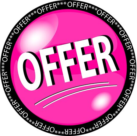 sybol: illustration of a pink offer button
