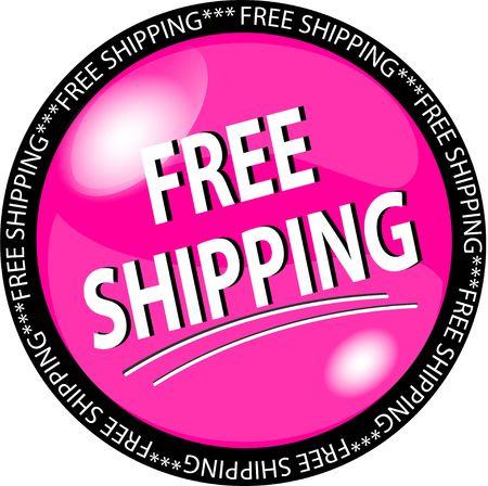 ejemplo de un botón rosa envío gratuito