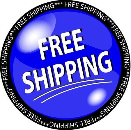 sybol: illustration of a blue free shipping button