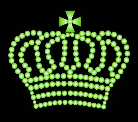 illustration of a crown on black background Stock Illustration - 5231701