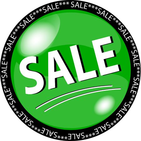 sybol: illustration of a green sale button