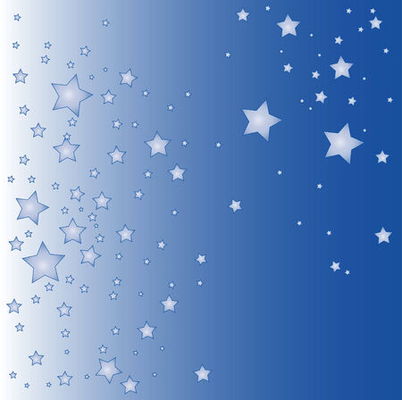 a illustration of a blue star background