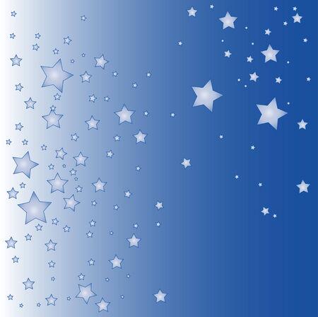una ilustración de un fondo de estrellas azules