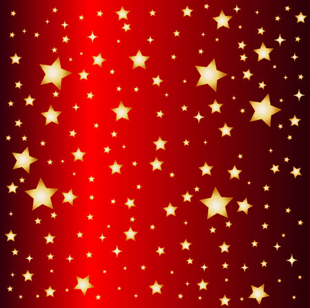 a illustration of a red star background Illustration