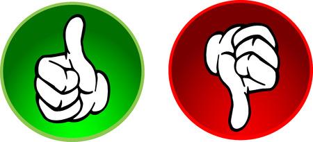 pollice in gi: Thumbs up & pulsanti