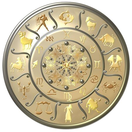 Pearl Zodiac Disc with Signs and Symbols photo