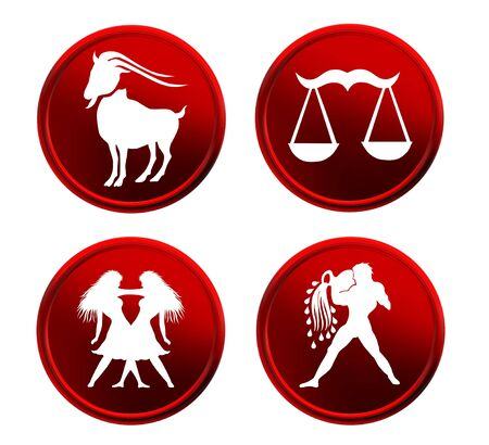 optional: set of red zodiac signs - set 3