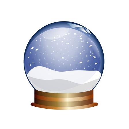 diviner: snowglobe Illustration