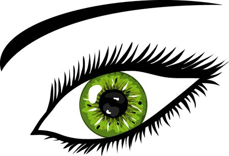 Green Eye with lashes