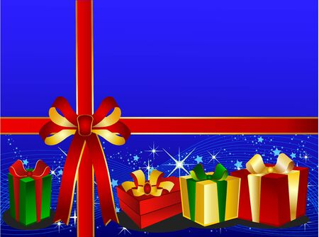 backgraound: Blue Christmas Backgraound with presents