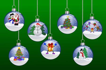 set of christmas glass balls photo