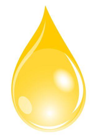 Ilustración de un waterdrop de oro Foto de archivo