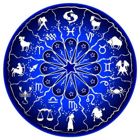 illustration of a zodiac disc illustration