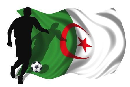 soccer player Algeria Stock Photo - 6167393