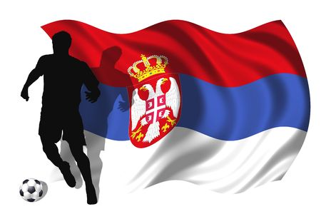 soccer player Serbia Stock Photo - 6167540