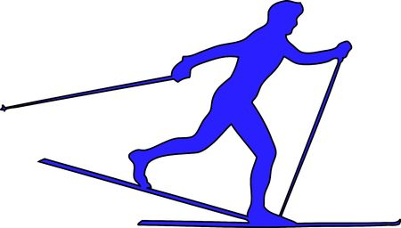 cross country: winter game button cross country Stock Photo