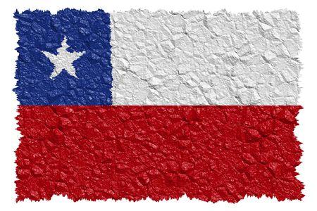 chilean flag: Nacional bandera Chile
