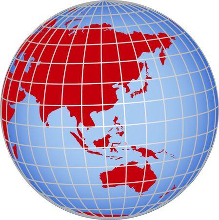 Globo de Asia Australia