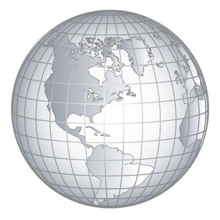 Globus Amerika Foto de archivo