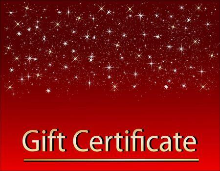 Certificado de regalo de Navidad