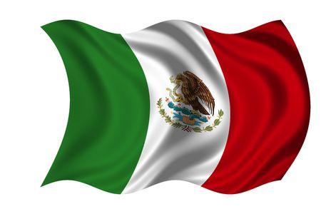 Mexique de drapeau national