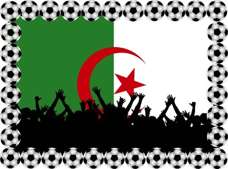 Soccer fans Algeria photo