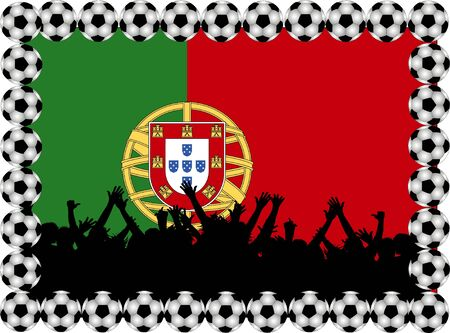 Soccer fans Portugal photo