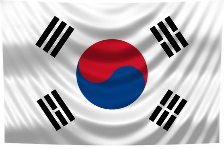 National Flag South Korea photo