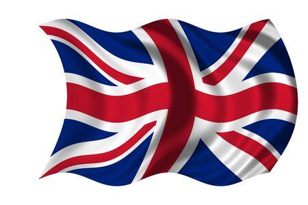 Agitando la bandera del Reino Unido