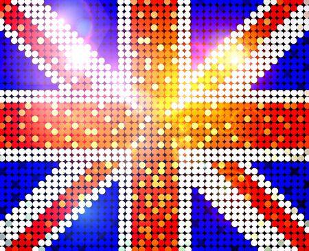 rhinestone: sparkling flag of united kingdom