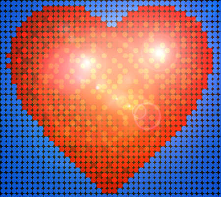 light backround: heart background
