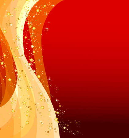 Illustration of a red christmas background with stars Stock Photo