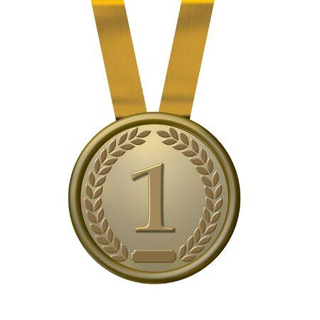Ilustración de una medalla de oro