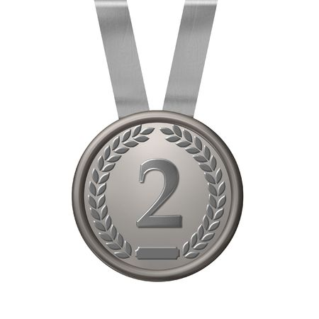 clipart podium: illustration of a silver medal