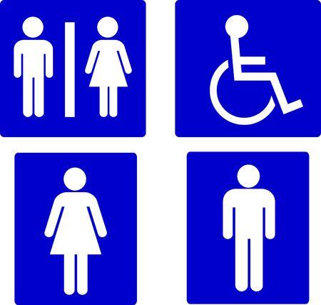 wc: Satz von Restroom-Symbole