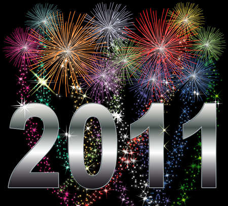 Illustration of a Happy New Year 2011 Background illustration