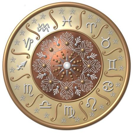 aries: Disco de Zodiaco  Foto de archivo