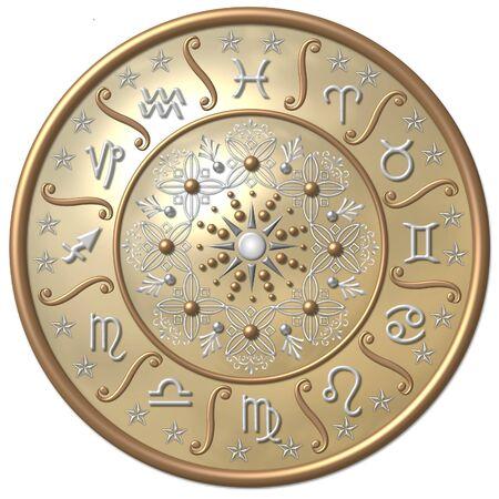 Disco de Zodiaco  Foto de archivo