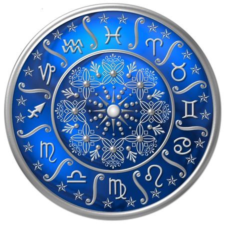 virgo: Disco de Zodiaco  Foto de archivo