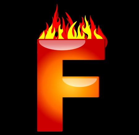 lettres arabes: Lettre f le feu