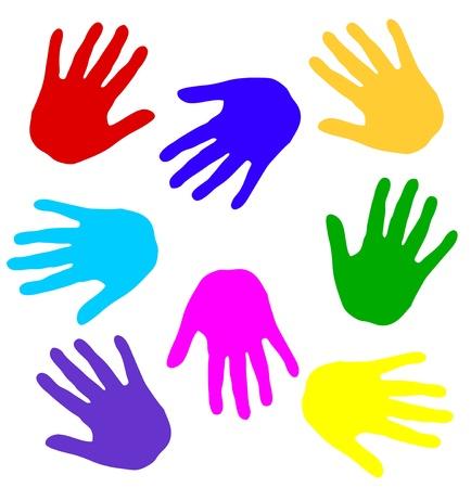 handprints: colorful handprints