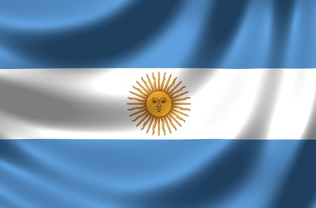 argentina flag: Flag of Argentina Stock Photo