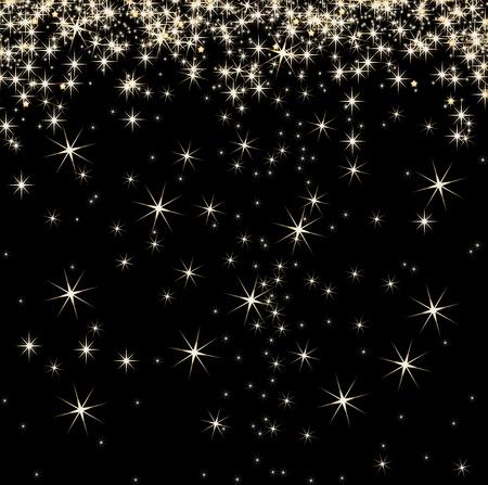 black star: Stars on background