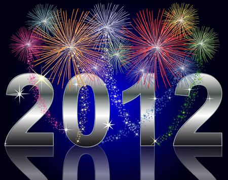 end month: New Year 2012 Stock Photo
